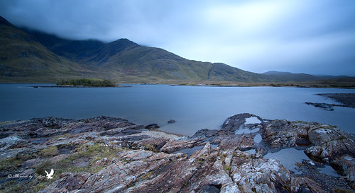 ireland sky panorama lake colour water clouds landscape scenery rocks scenic hills connemara mayo doolough