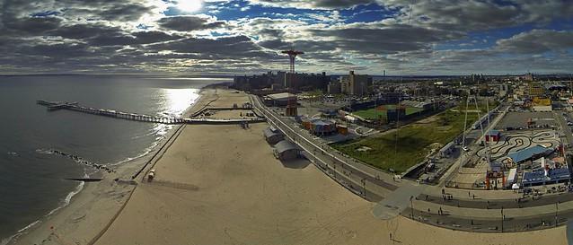 Coney Island Beach West Side (Gopro) Panorama