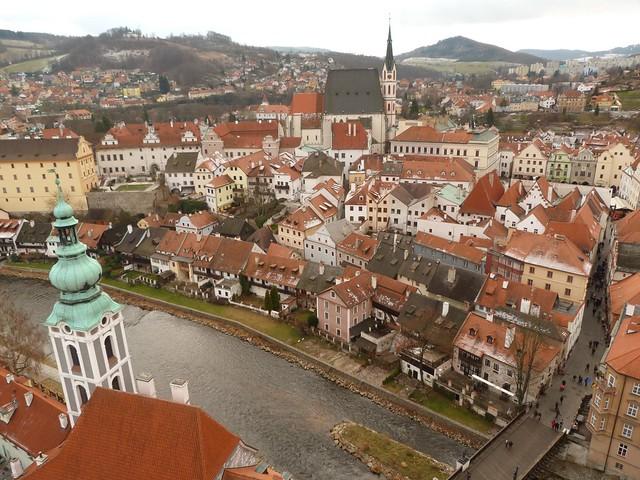 Vistas de Cesky Krumlov desde el castillo