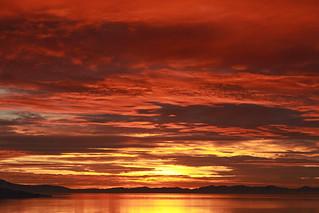 Sunset on Antelope Island, Utah | by O.S. Fisher