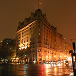 The Willard at night with snow