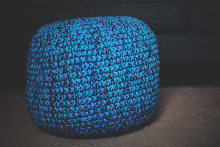 knitted pouf | by Lisa | goodknits