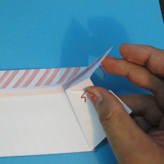 วิธีพับกล่องกระดาษรูปหัวใจส่วนฐานกล่อง 023
