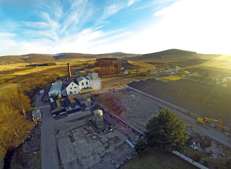 Aerial Photograph of Balmenach Distillery Cromdale Scotland Photo by Aaron Sneddon G0023456
