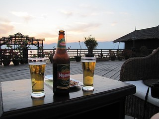 Inle Lake Sunset Myanmar Beer | by CMoravec