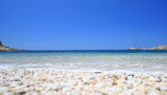 Koundouraki beach.