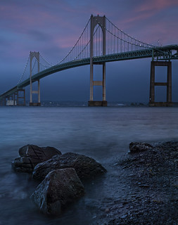 Newport bridge-dusk