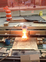 Thermal Welding of Track Rail, Western Turnaround