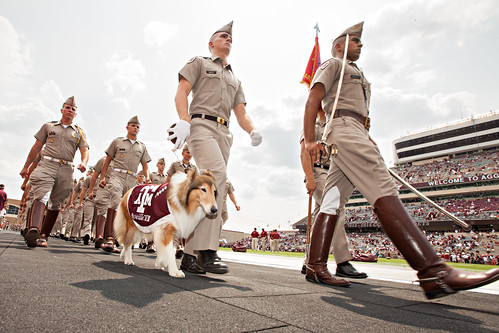 Reveille during march in - Alabama game