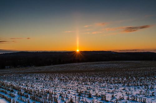 winter sky sun snow colors sunrise dawn upstateny farmland rays