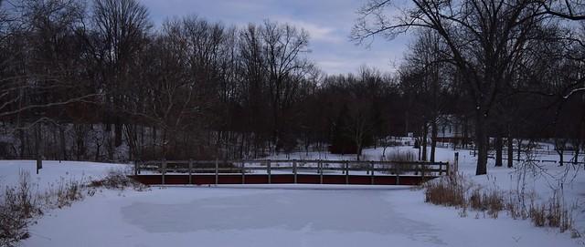 A bridge over frozen water