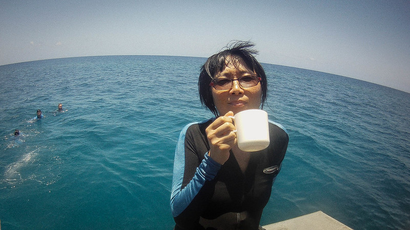 Hot Drink at the Great Barrier Reef