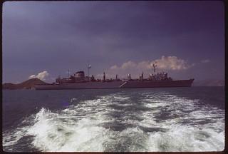 U.S.S. Sacramento in Hong Kong harbour, 1971