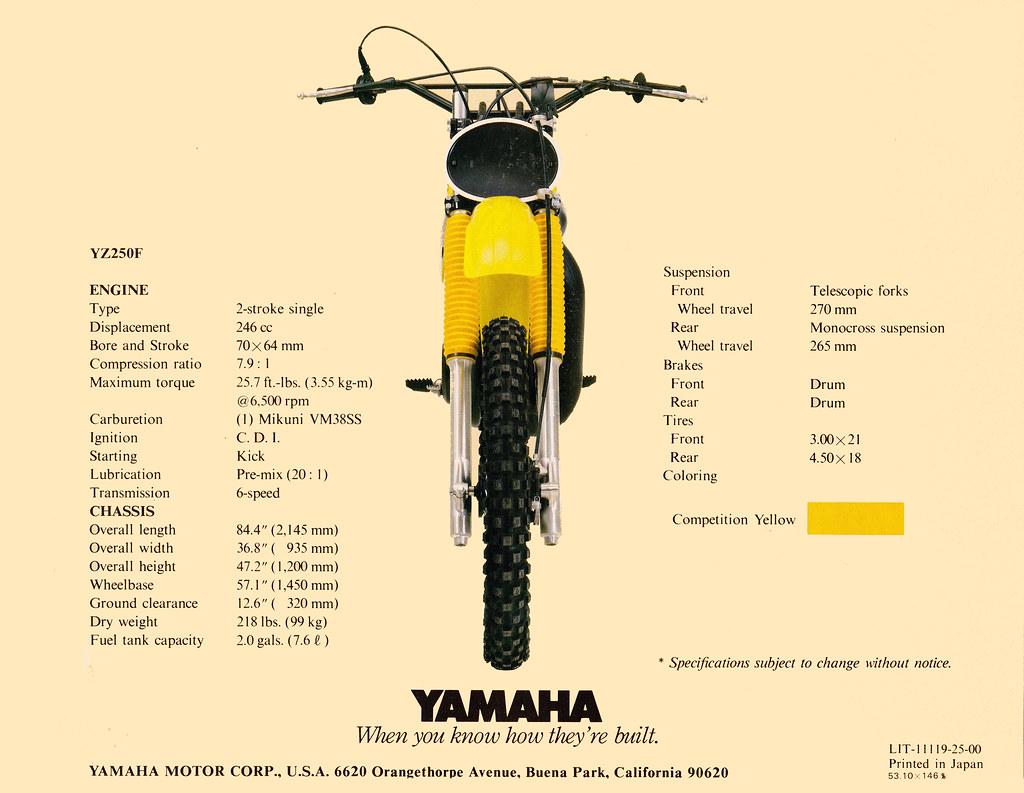 1979 Yamaha YZ250 Brochure Page 4 | Tony Blazier | Flickr