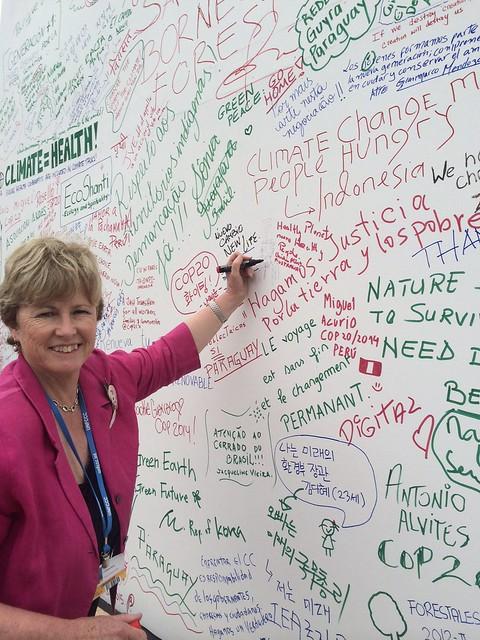 Christine Milne in Lima#COP20 #UNFCCC