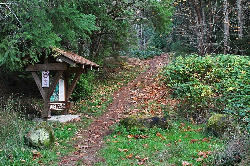 Hiking Trailhead: Channel Ridge Trails, Saltspring Island, Gulf Islands, British Columbia