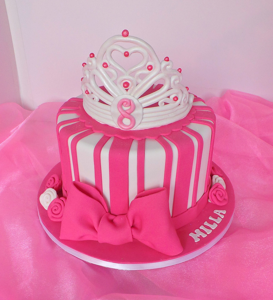 Fantastic Princess Birthday Cake With Fondant Crown Design Was Broug Flickr Funny Birthday Cards Online Inifofree Goldxyz