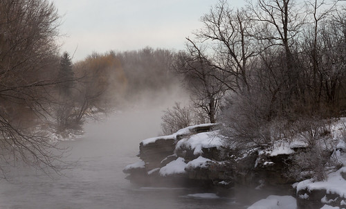 winter snow mississippiriver rivermist