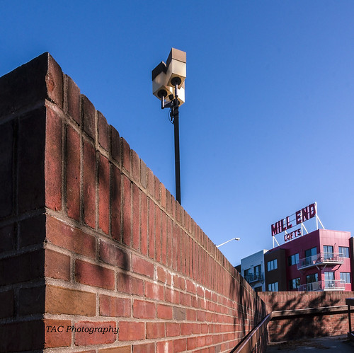 millend baycity brick brickwall leadinglines view vantagepoint hometown red sign