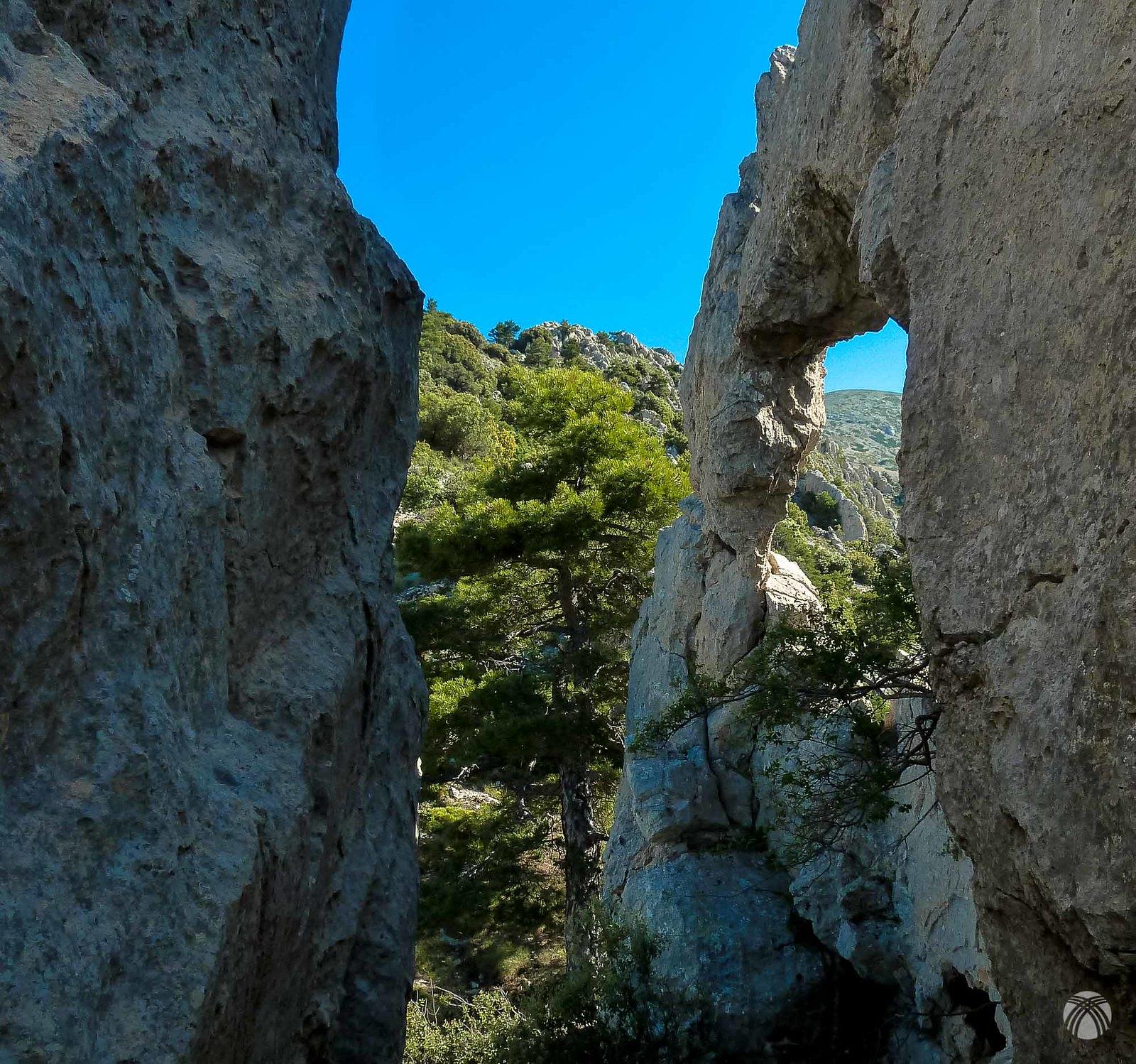 El arco de roca visto por Félix