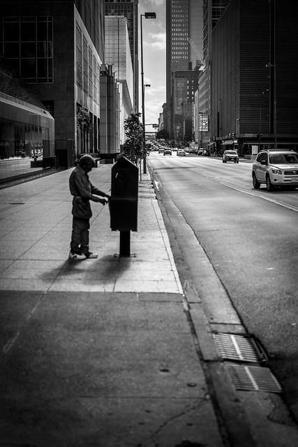 Downtown Dallas Newspaper Man
