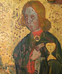 Mattishall screen: St John (15th Century)