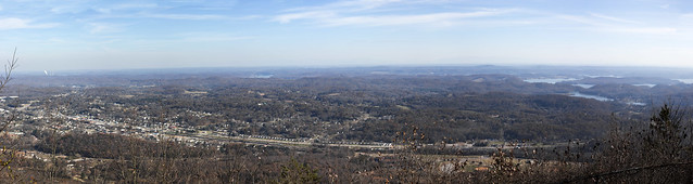 Kingston as seen from Mount Roosevelt, Cumberland County, Tennessee