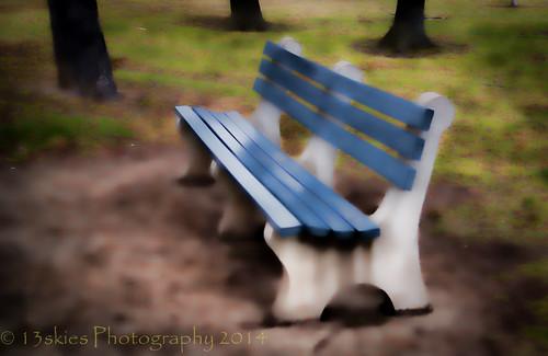 park blue autumn trees cold macro up bench season relax soft paradise sitting view hamilton bark sit rest elevation hbm hamiltonontario happybenchmonday