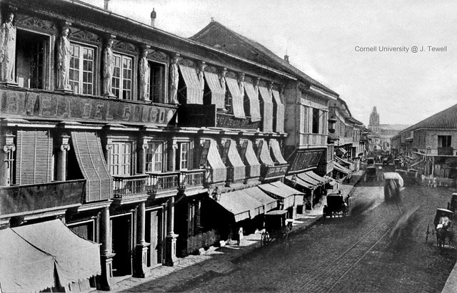 Escolta Street looking east, Manila, Philippines, late 19th Century