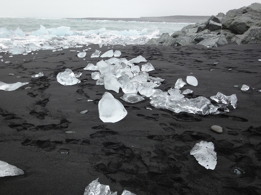 Ice Littering jökulsárlón Beach