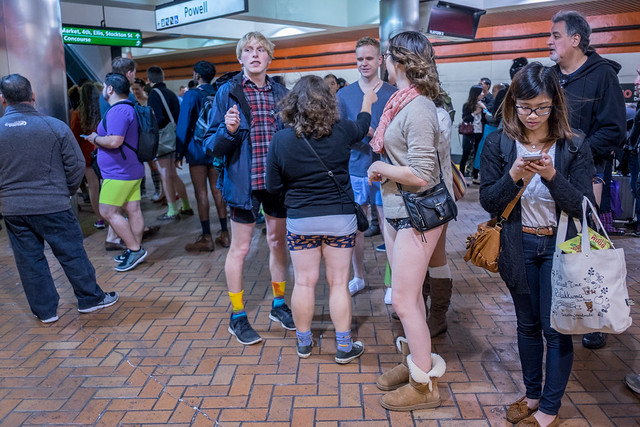 No Pants Subway Ride 2015: Wordsworthian orography