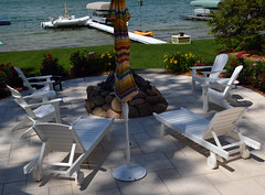 Seaside Casual Chaise & Adirondack Bell Tower