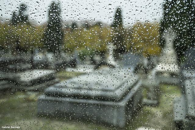 LLuvia en el cementerio - Madrid