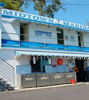 Midtown Marina before the floods of 2010 and 2013
