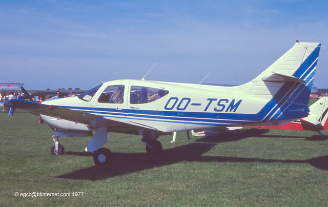 OO-TSM - 1977 build Rockwell Commander 114, at the 1977 PFA Rally at Sywell