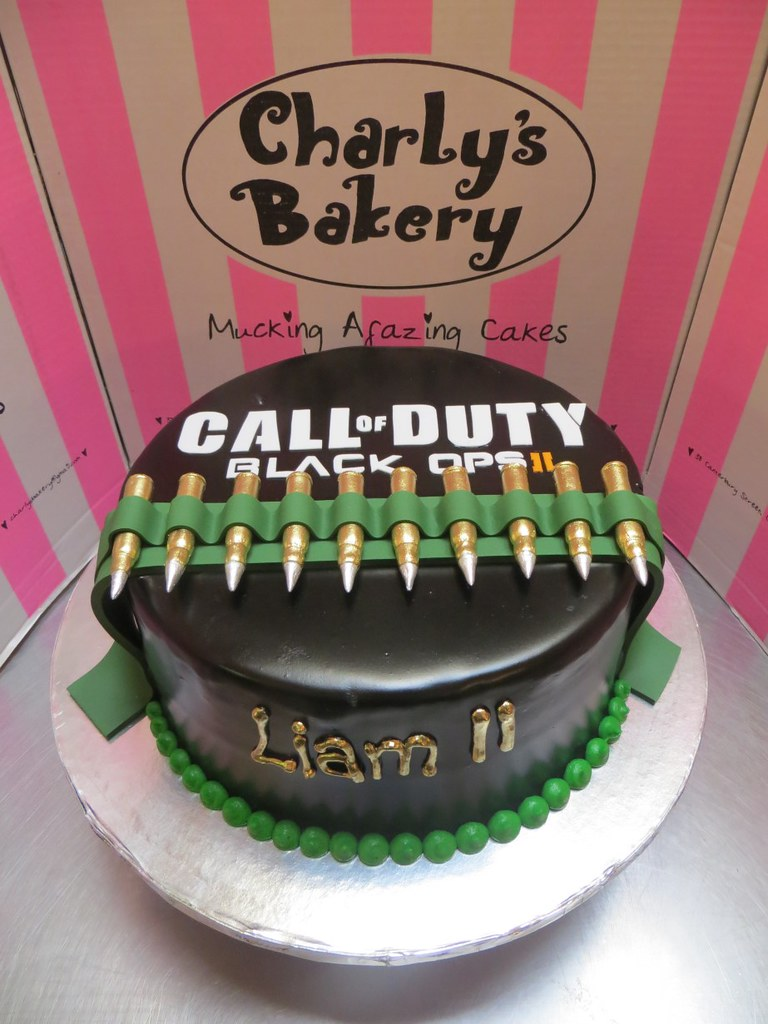 Surprising Call Of Duty Themed Birthday Cake Charlys Bakery Flickr Funny Birthday Cards Online Inifodamsfinfo