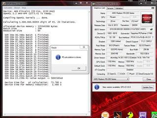 gpu r9-270X superpi20M=1m15.259s | by flankerp