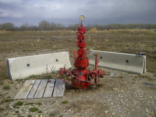 Orphan well in Alberta.