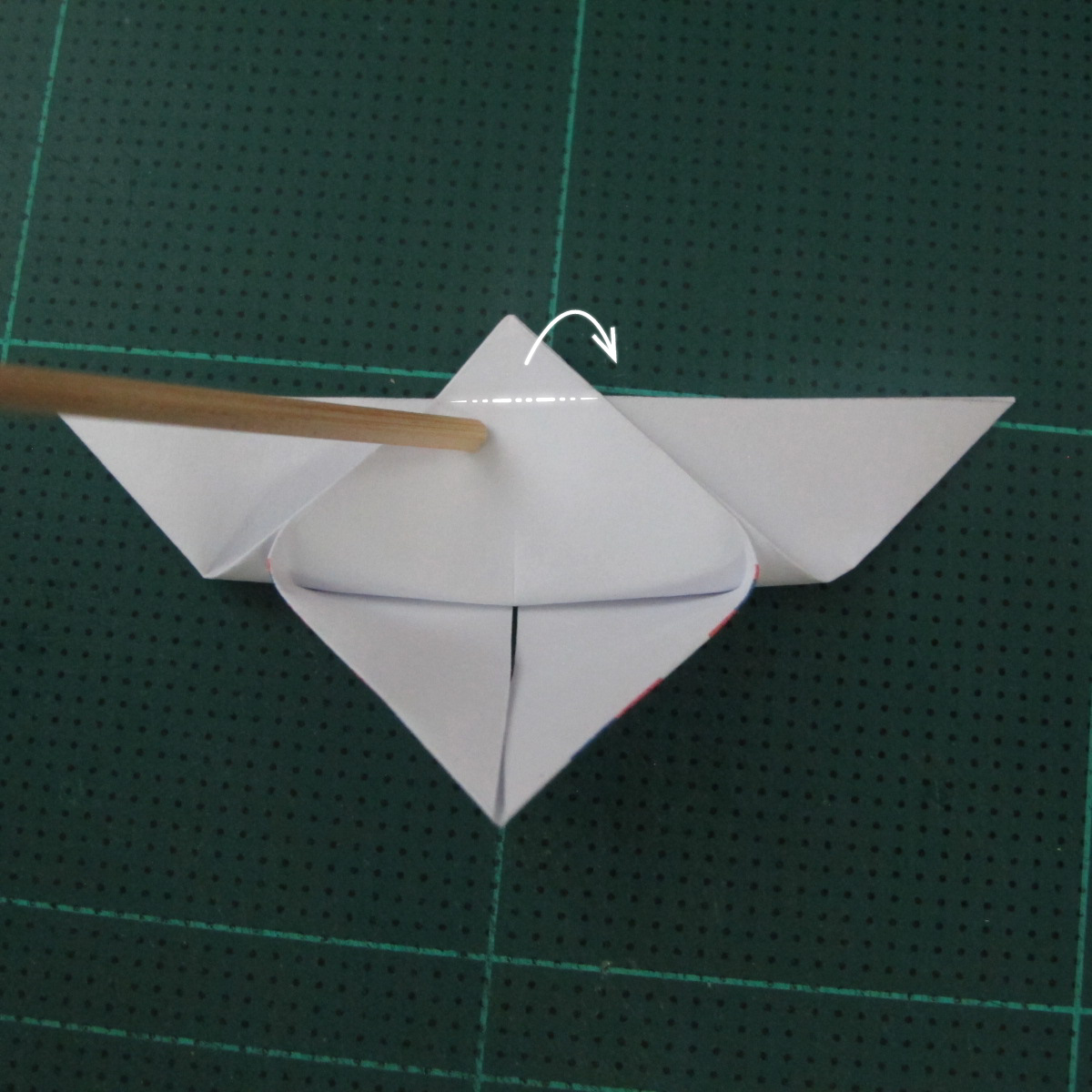 การพับกระดาษเป็นผีเสื้อแบบง่ายๆ (Easy Origami Butterfly) 008