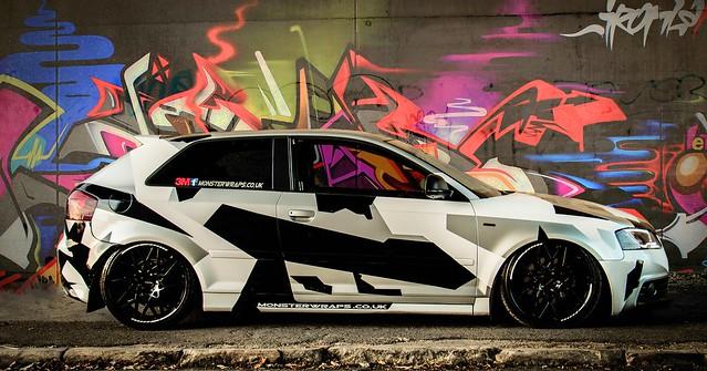 Audi A3 camo graffiti