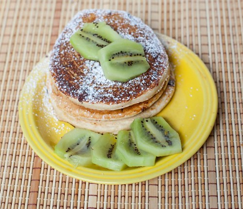 Chocolate Chip Kiwi Pancakes | by Sweet!! Vegan Bakers - Shilpa Shah