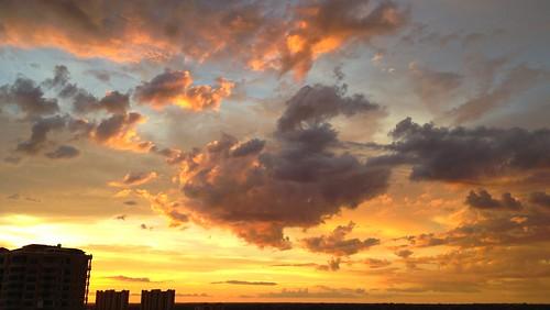 sunset sun clouds cloudy cape coral tarpon point marina sky weather erkohl er kohl