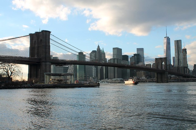 Manhattan and Brooklyn Bridge view 1