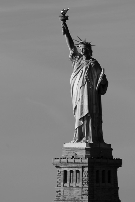 Statue of Liberty - Black and White