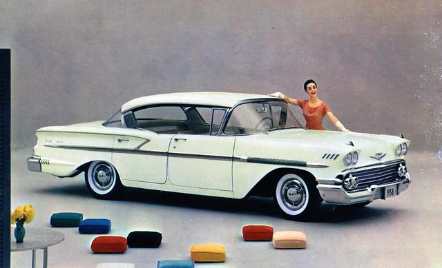 1958 Chevrolet Bel Air Sport Sedan Honey Beige