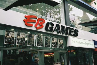 EB Games, somewhere in Melbourne....