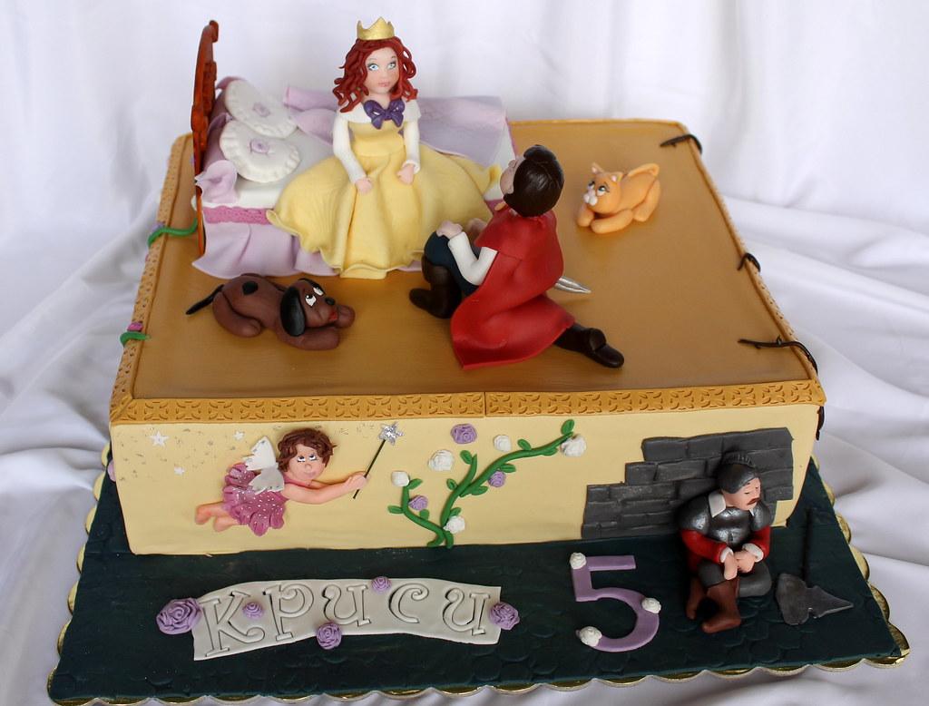 Astounding Sleeping Beauty Birthday Cake Nadia Gocheva Flickr Personalised Birthday Cards Paralily Jamesorg