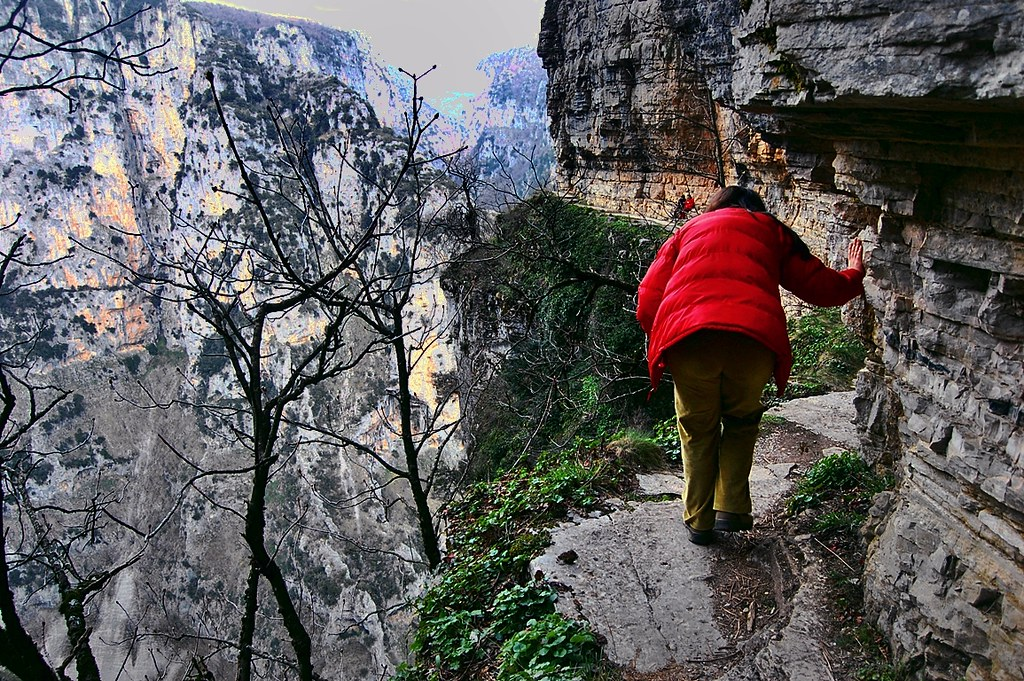 Greece-Vikos dangerous path | Dimitris G  | Flickr