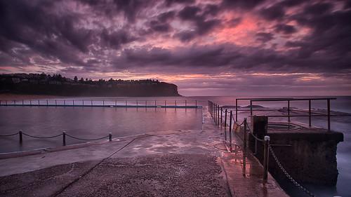 longexposure panorama seascape clouds sunrise au australia nsw newsouthwales rockpool northernbeaches leefilters bilgolabeach