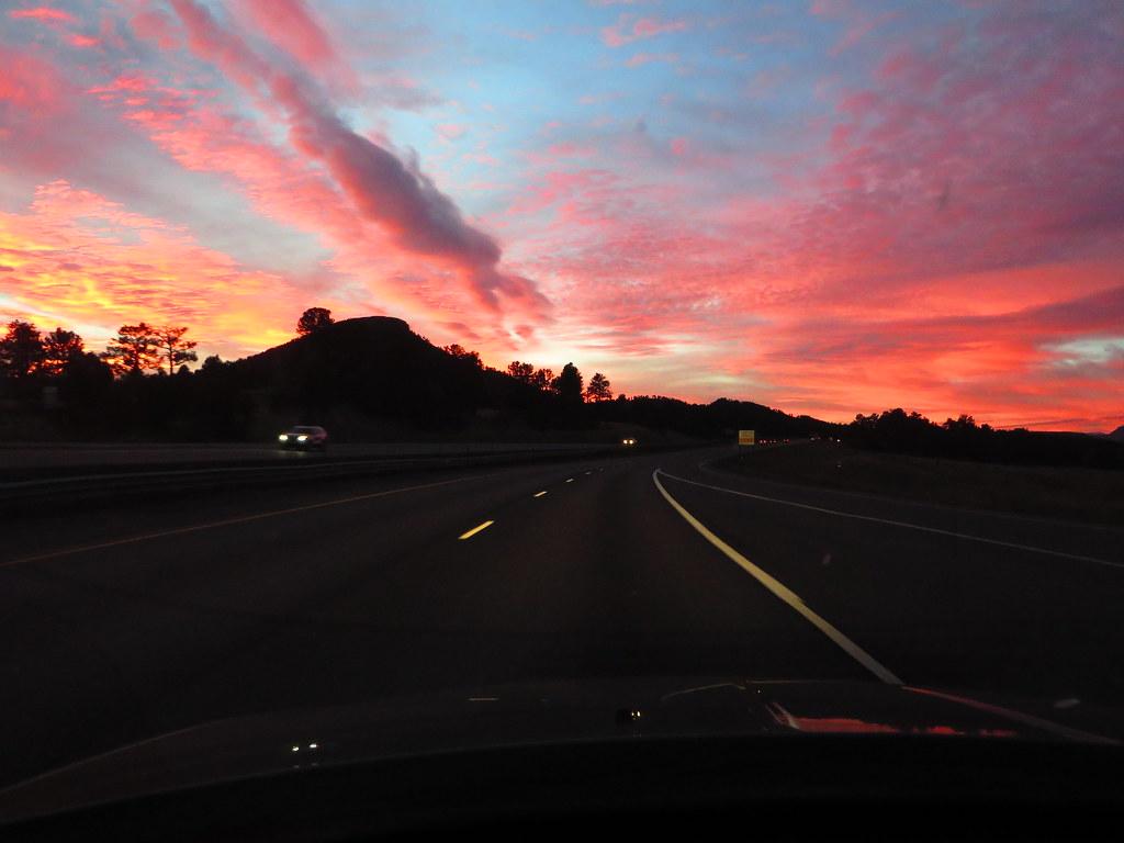 Sunrise, Interstate 25 Between Castle Rock and Colorado Sp… | Flickr